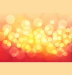 abstract yellow bokeh light on red background vector image