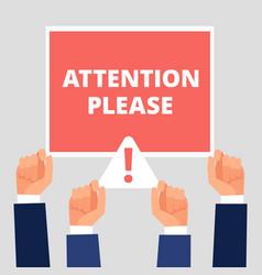 Attention please alert announcement vector