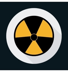 Biohazard industrial security safety icon vector