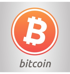 Bitcoin orange logo vector image