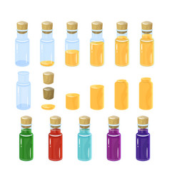 bottles of potion colorful vector image