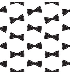 Bow tie seamless pattern father s day background vector