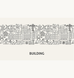 building banner concept vector image