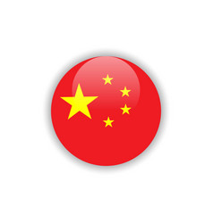 Button china flag template design vector