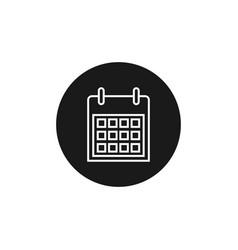 calendar line icon outline vector image