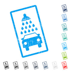 car shower icon rubber watermark vector image