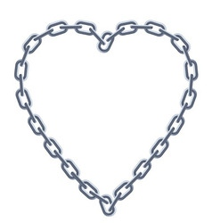 chain silver heart vector image