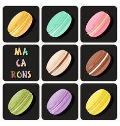 Collection of macaron vector