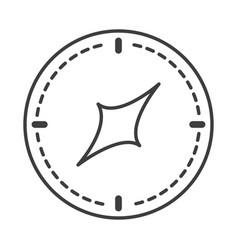 compass rose navigation orientation equipment line vector image
