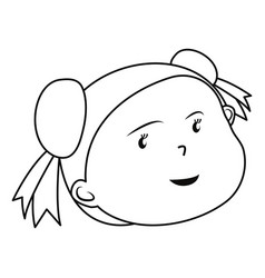 cute girl face on white background vector image