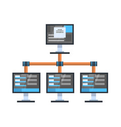 data access icon cloud computer connection hosting vector image