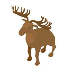 deer icon isometric style vector image