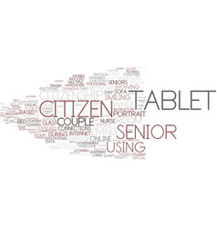 Digital citizen word cloud concept vector