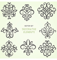 Ethnic decorative elements collection vector image