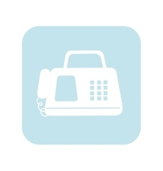 Fax machine telephone vector