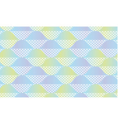 fish scale abstract geometric seamless pattern vector image