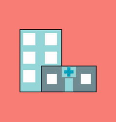 Flat icon design collection hospital building vector