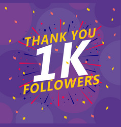 Followers celebration 10k social sites post vector