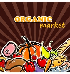 food organic food concept vector image