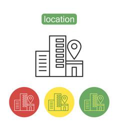 Geo location outline icons set vector