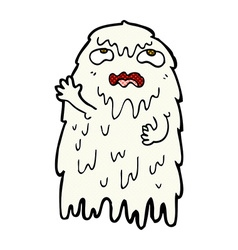 gross comic cartoon ghost vector image