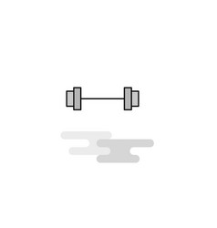gym rod web icon flat line filled gray icon vector image