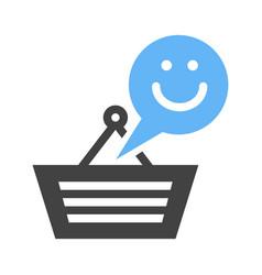 Happy customer icon vector
