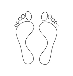 Human feet icon outline style vector