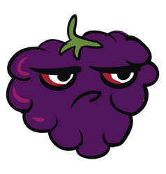 Image angry blackberry or color vector