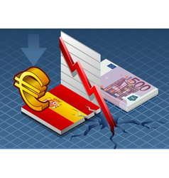 Isometric spain crisis vector