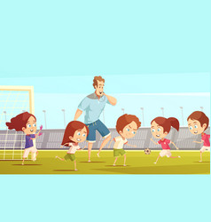 kids sport cartoon vector image