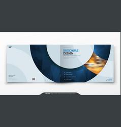 Landscape cover design blue corporate business vector