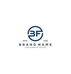 Letter bf logo design vector