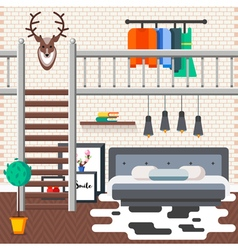 Loft Bed Room vector
