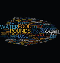 Lose pounds quick text background word cloud vector