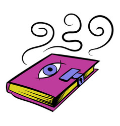 Magic book icon icon cartoon vector