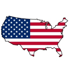 Map in colors of United States vector