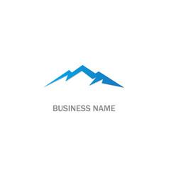 mountain design logo vector image
