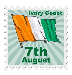 national day of Ivory Coast vector image