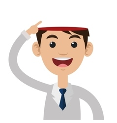Open head person icon vector