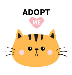 Orange cat round face silhouette adopt me pink vector