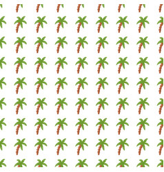 Palm tree seamless pattern tropical background vector