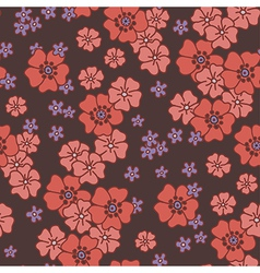 pattern poppy vector image