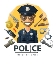 police law constabulary logo design vector image