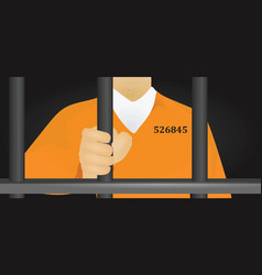 prisoner vector image
