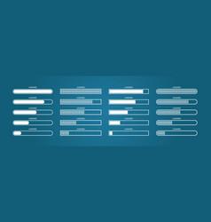 Progress bar load digital status download vector