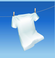 realistic detailed 3d tshirt hanging out vector image