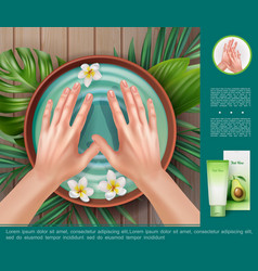 realistic spa procedure template vector image