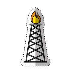 Refining plant tower isolated icon vector