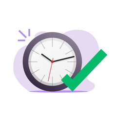 Right time to act icon concept idea of vector